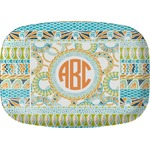 Teal Ribbons & Labels Melamine Platter (Personalized)