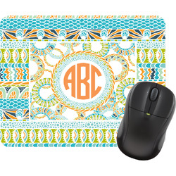 Teal Ribbons & Labels Mouse Pad (Personalized)