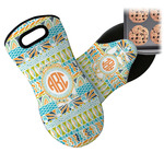 Teal Ribbons & Labels Neoprene Oven Mitt (Personalized)