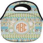 Teal Ribbons & Labels Lunch Bag (Personalized)