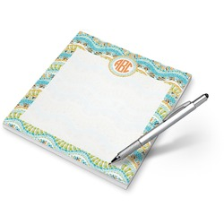 Teal Ribbons & Labels Notepad (Personalized)