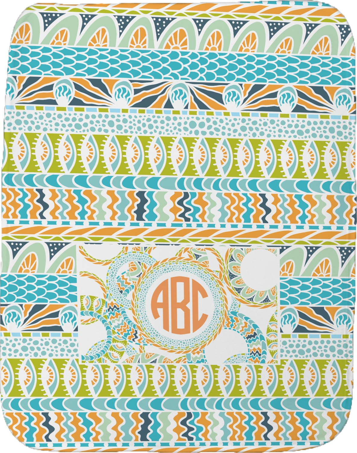 Teal Ribbons Amp Labels Burp Cloth Personalized