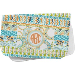 Teal Ribbons & Labels Burp Cloth (Personalized)