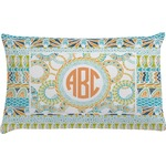 Teal Ribbons & Labels Pillow Case (Personalized)