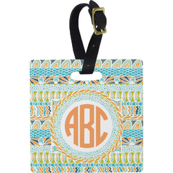 Teal Ribbons & Labels Luggage Tags (Personalized)