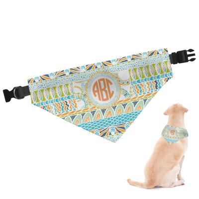 Teal Ribbons & Labels Dog Bandana (Personalized)