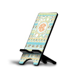 Teal Ribbons & Labels Phone Stand (Personalized)