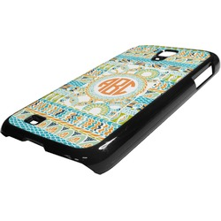 Teal Ribbons & Labels Plastic Samsung Galaxy 4 Phone Case (Personalized)