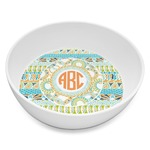 Teal Ribbons & Labels Melamine Bowl 8oz (Personalized)