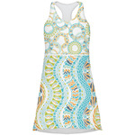 Teal Ribbons & Labels Racerback Dress (Personalized)