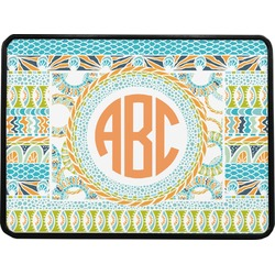 """Teal Ribbons & Labels Rectangular Trailer Hitch Cover - 1.25"""" (Personalized)"""