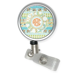 Teal Ribbons & Labels Retractable Badge Reel (Personalized)