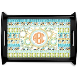 Teal Ribbons & Labels Wooden Trays (Personalized)