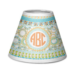 Teal Ribbons & Labels Chandelier Lamp Shade (Personalized)