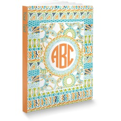 Teal Ribbons & Labels Softbound Notebook (Personalized)