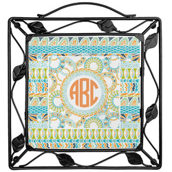 Teal Ribbons & Labels Trivet (Personalized)