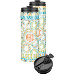 Teal Ribbons & Labels Stainless Steel Skinny Tumbler (Personalized)