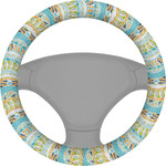 Teal Ribbons & Labels Steering Wheel Cover (Personalized)