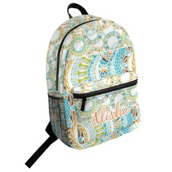 Teal Ribbons & Labels Student Backpack (Personalized)
