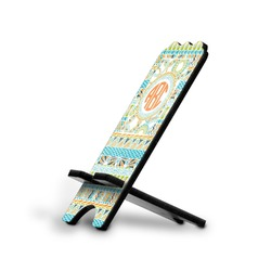 Teal Ribbons & Labels Stylized Phone Stand (Personalized)