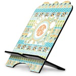 Teal Ribbons & Labels Stylized Tablet Stand (Personalized)