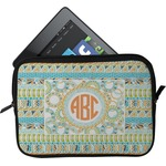 Teal Ribbons & Labels Tablet Case / Sleeve (Personalized)