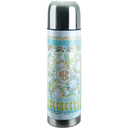 Teal Ribbons & Labels Stainless Steel Thermos (Personalized)