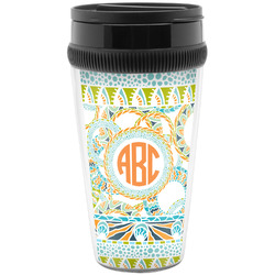 Teal Ribbons & Labels Travel Mugs (Personalized)