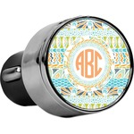 Teal Ribbons & Labels USB Car Charger (Personalized)
