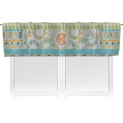 Teal Ribbons & Labels Valance (Personalized)