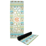 Teal Ribbons & Labels Yoga Mat (Personalized)