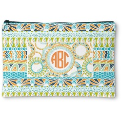 Teal Ribbons & Labels Zipper Pouch (Personalized)