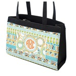 Teal Ribbons & Labels Zippered Everyday Tote (Personalized)