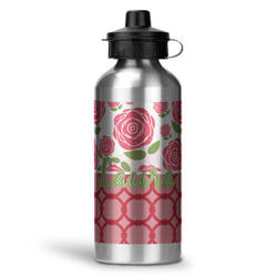 Roses Water Bottle - Aluminum - 20 oz (Personalized)