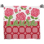 Roses Full Print Bath Towel (Personalized)