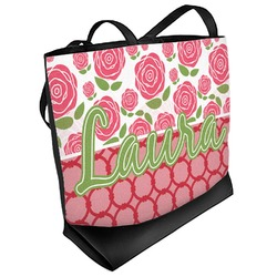 Roses Beach Tote Bag (Personalized)