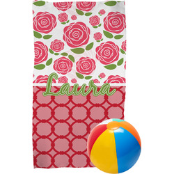 Roses Beach Towel (Personalized)