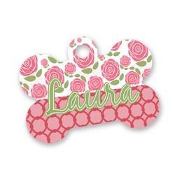 Roses Bone Shaped Dog Tag (Personalized)