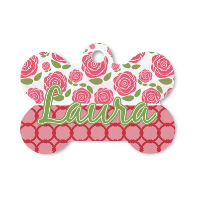Roses Bone Shaped Dog ID Tag (Personalized)