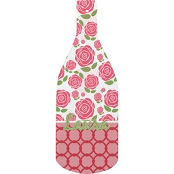 Roses Bottle Shaped Cutting Board (Personalized)