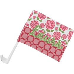 Roses Car Flag - Small w/ Name or Text