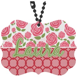 Roses Rear View Mirror Charm (Personalized)