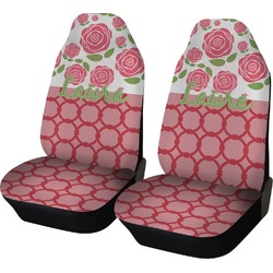 Roses Car Seat Covers (Set of Two) (Personalized)