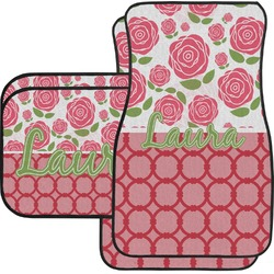 Roses Car Floor Mats Set - 2 Front & 2 Back (Personalized)
