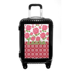 Roses Carry On Hard Shell Suitcase (Personalized)