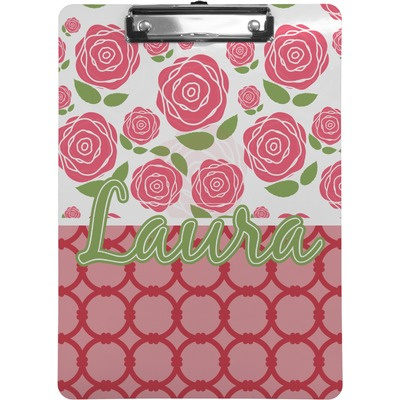 Roses Clipboard Letter Size Personalized