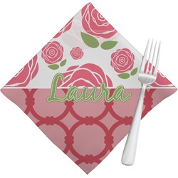 Roses Cloth Napkins (Set of 4) (Personalized)