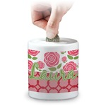 Roses Coin Bank (Personalized)