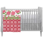 Roses Crib Comforter / Quilt (Personalized)