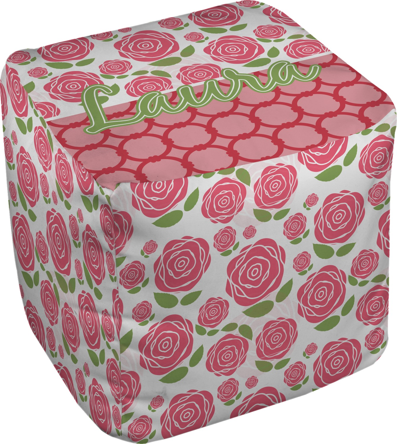 roses cube pouf ottoman 18 personalized you customize it. Black Bedroom Furniture Sets. Home Design Ideas